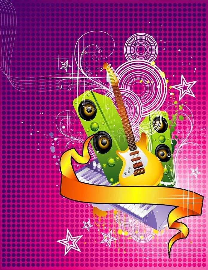 Ilustração da música de fundo ilustração do vetor