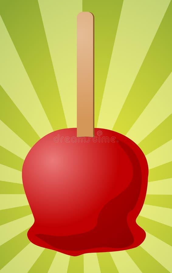 Ilustração da maçã de doces ilustração do vetor