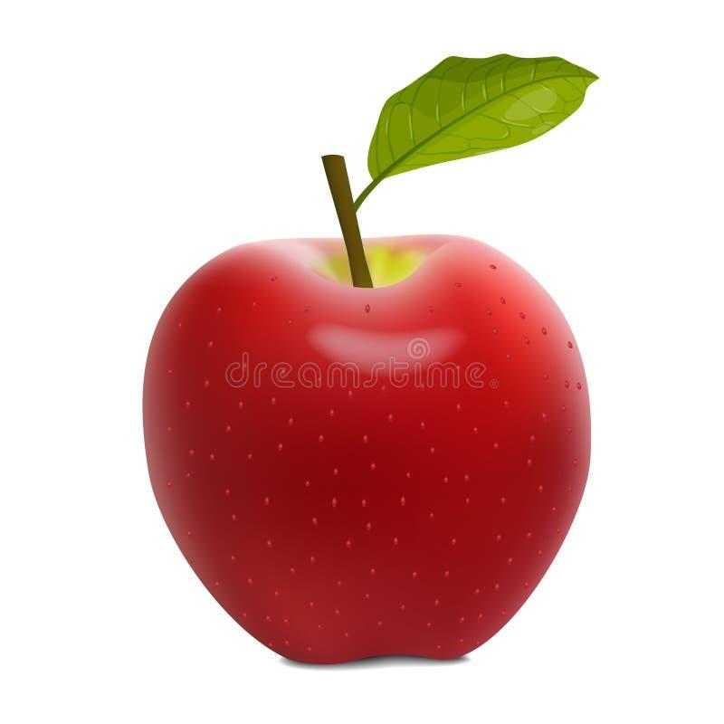 Ilustração da maçã vermelha ilustração stock