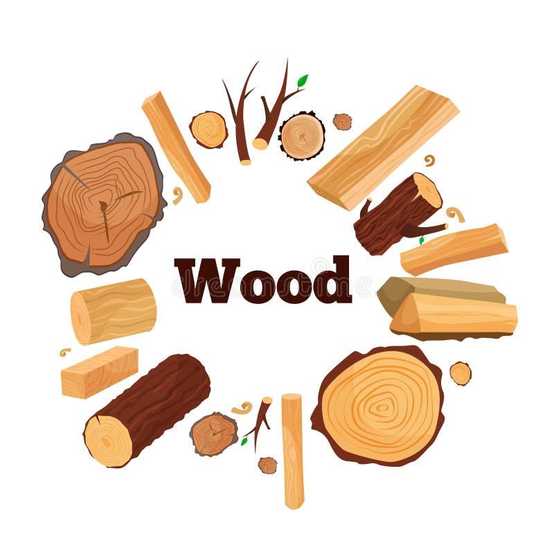 Ilustração da madeira ilustração royalty free