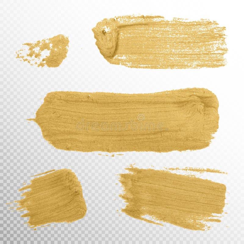 Ilustração da mancha da pintura da textura do ouro Eps 10 ilustração royalty free