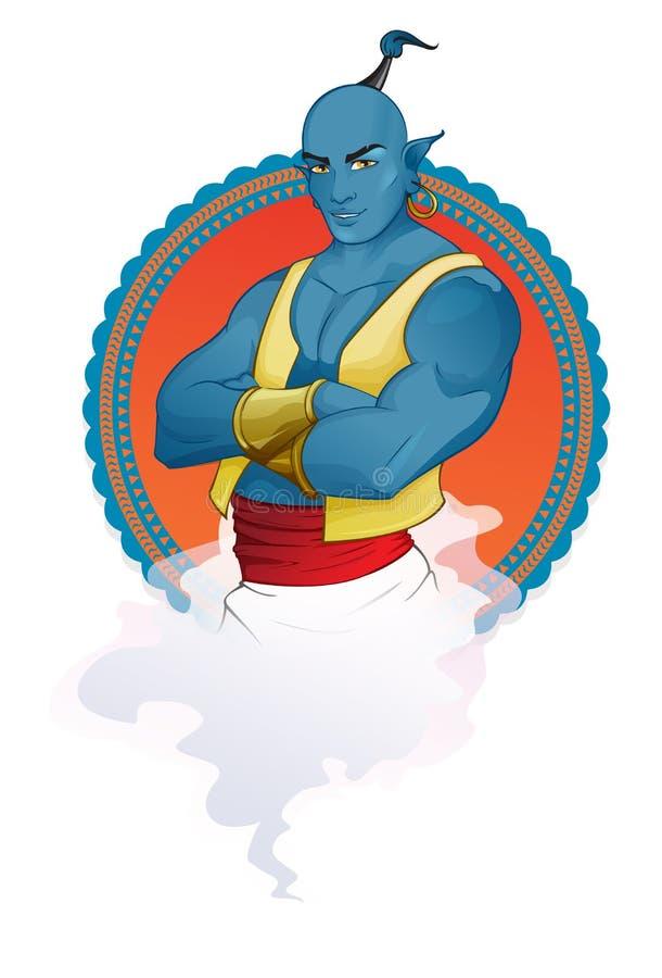 Ilustração da mascote do gênio ilustração royalty free