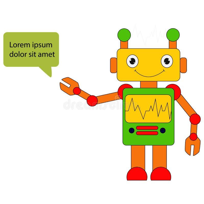 Ilustração da mascote do robô ilustração do vetor
