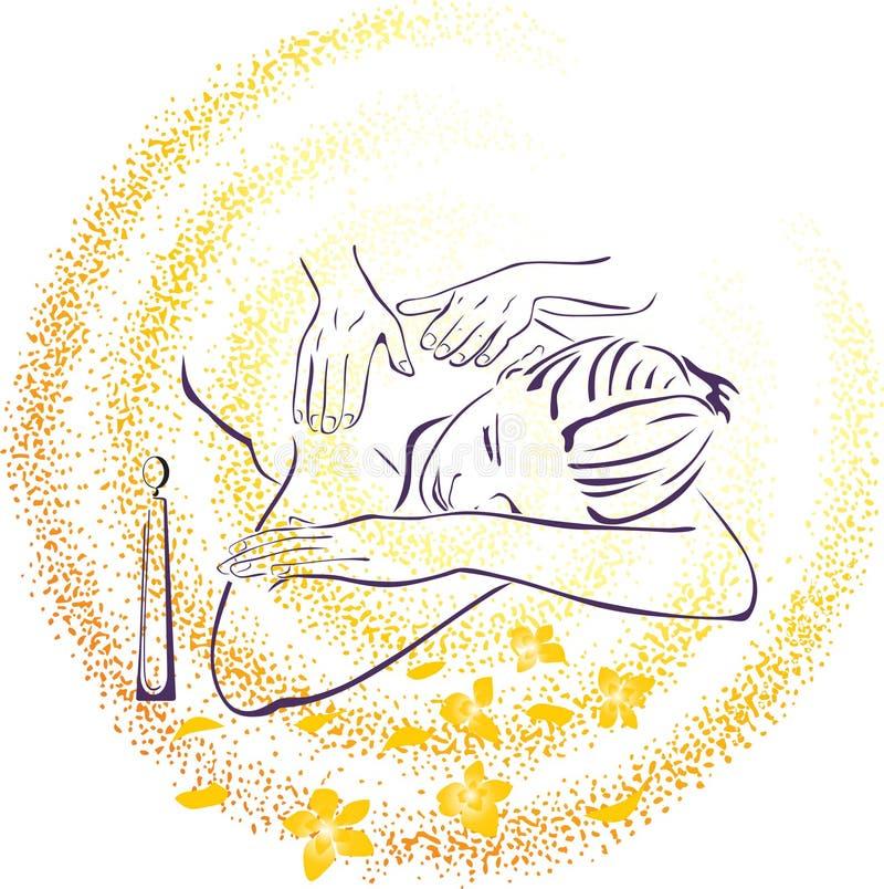 Ilustração da massagem dos termas ilustração royalty free