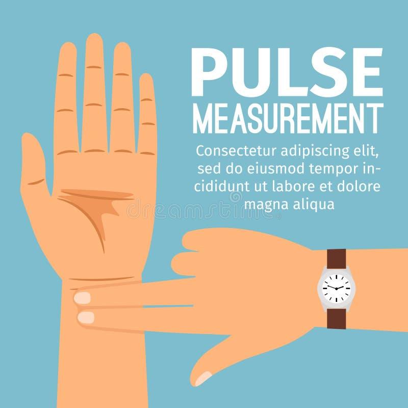 Ilustração da medida do pulso para o cartaz médico ilustração stock