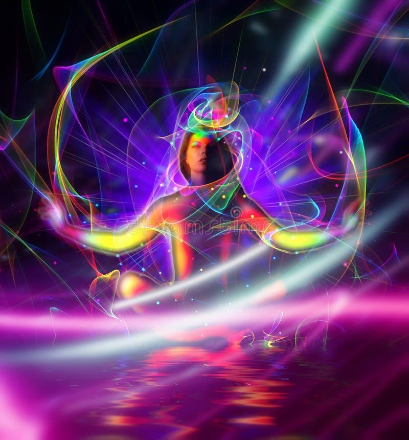 Ilustração da meditação foto de stock royalty free