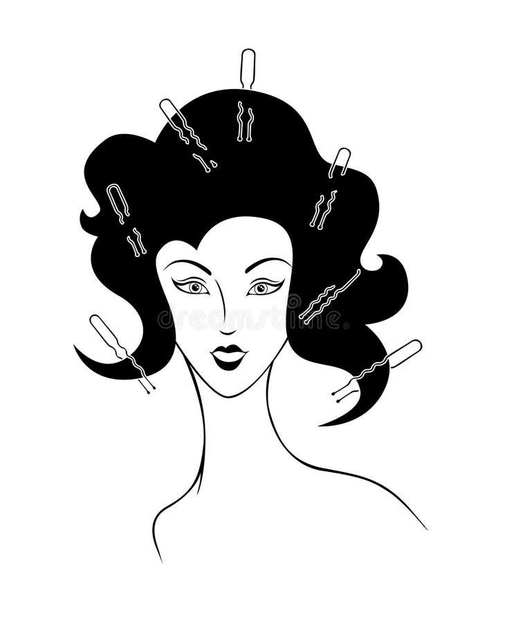 Ilustração da menina ilustração stock