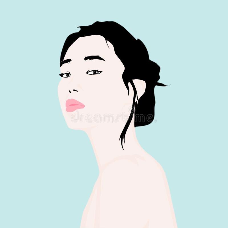 Ilustração da menina foto de stock royalty free