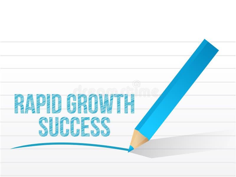 Ilustração da mensagem de sucesso do crescimento rápido ilustração royalty free