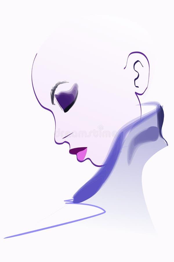 Ilustração da mulher do retrato ilustração royalty free