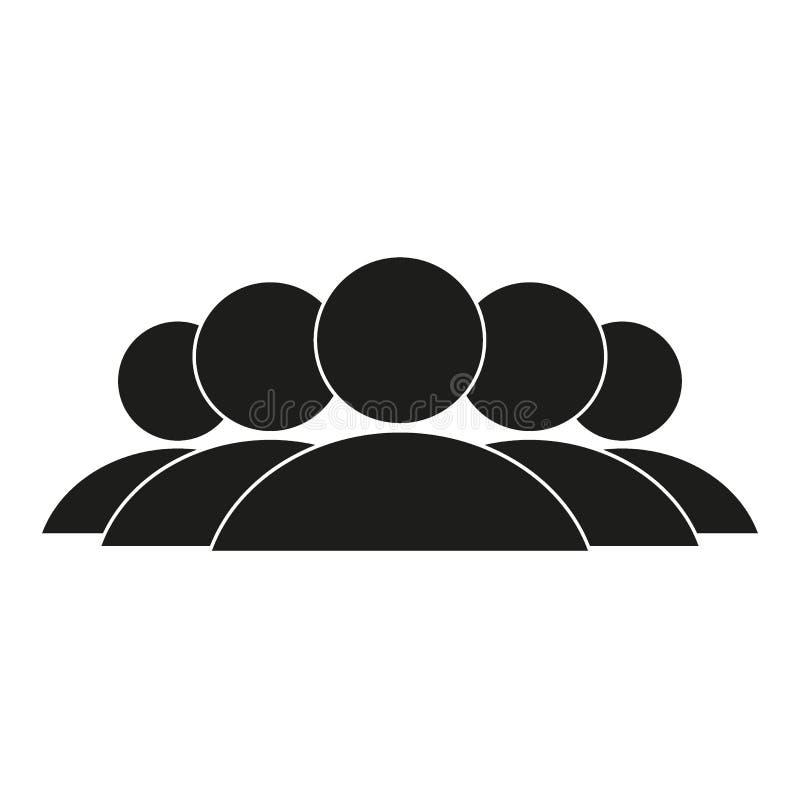 A ilustração da multidão de ícone dos povos mostra em silhueta o vetor Ícone social Projeto liso do estilo Rede do grupo de utili ilustração royalty free