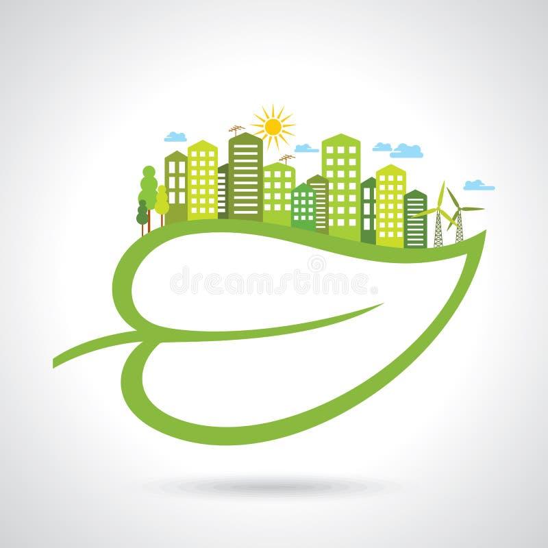 Ilustração da natureza das economias do conceito da ecologia ilustração stock