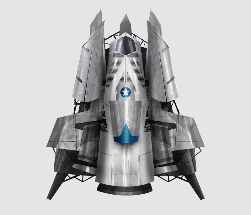 Ilustração da nave espacial ilustração royalty free