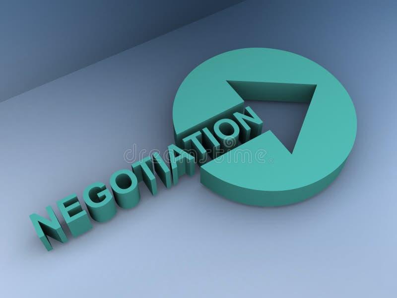 Ilustração da negociação fotos de stock royalty free