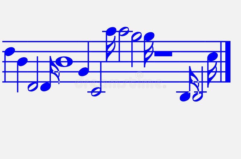 Ilustração da nota da música Projeto da nota da música usando o ilustrador ilustração royalty free
