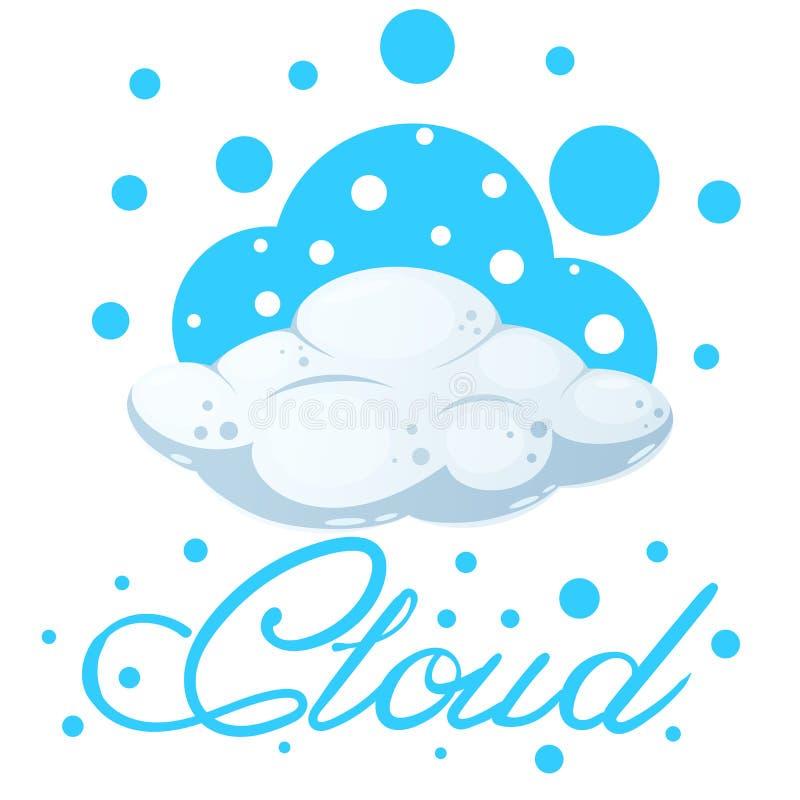 Ilustração da nuvem dos desenhos animados O azul chapinha, neva ilustração do vetor