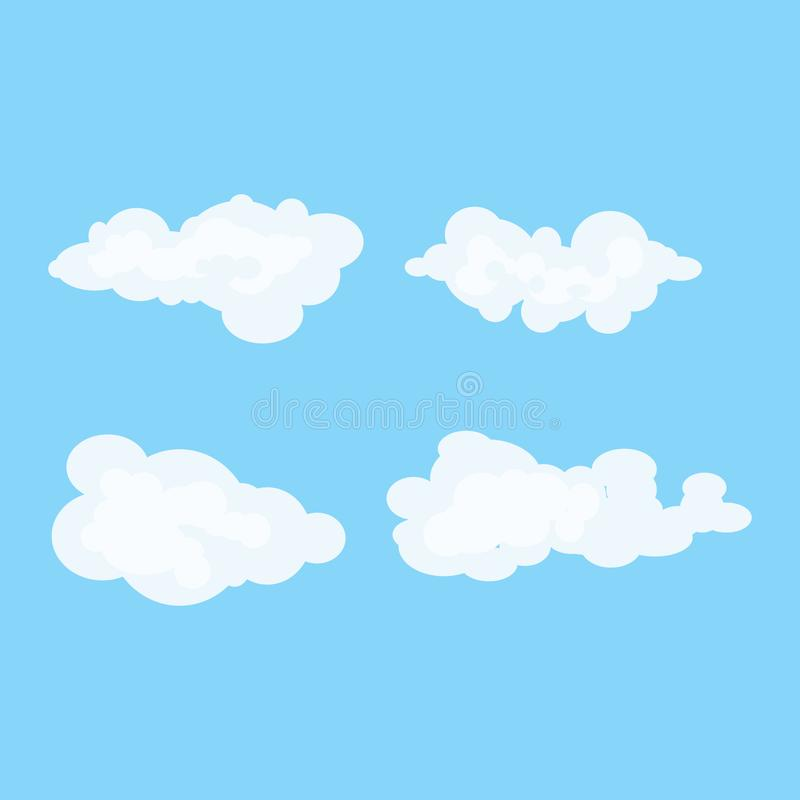 Ilustração da nuvem São inteiramente e evolutivo sem definição perdedora Cor eazy Melhore sua visibilidade ilustração stock