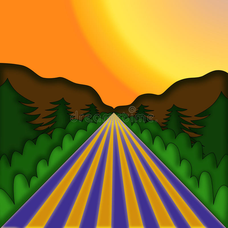 Ilustração da paisagem ilustração royalty free