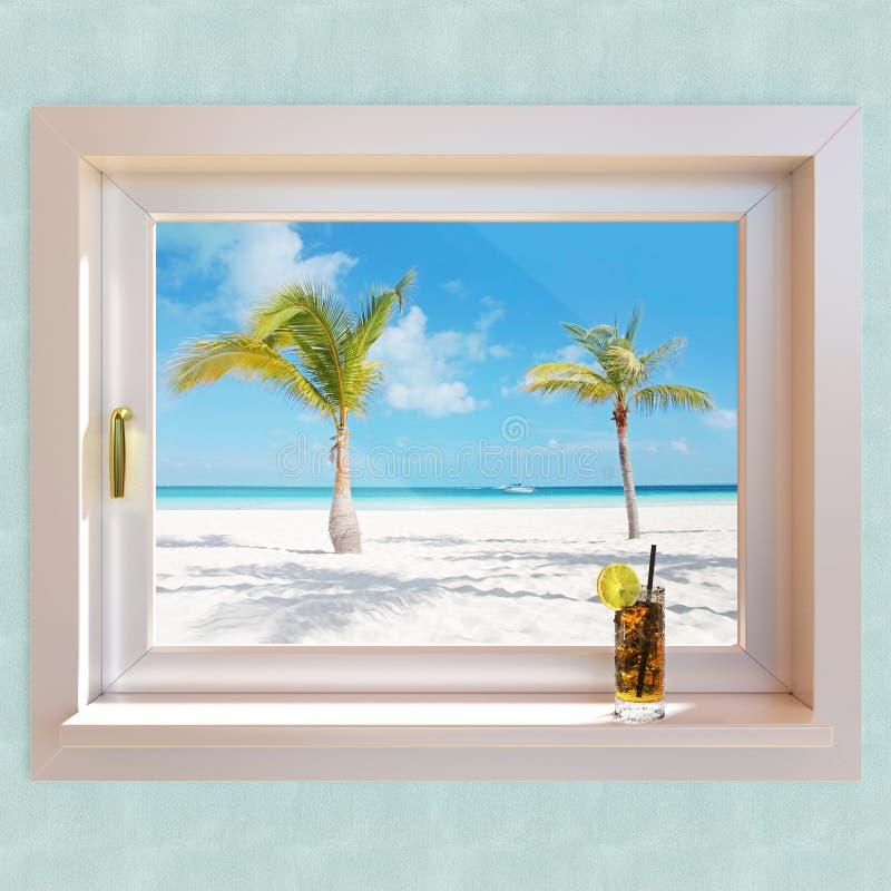 Ilustração da paisagem 3d do verão foto de stock