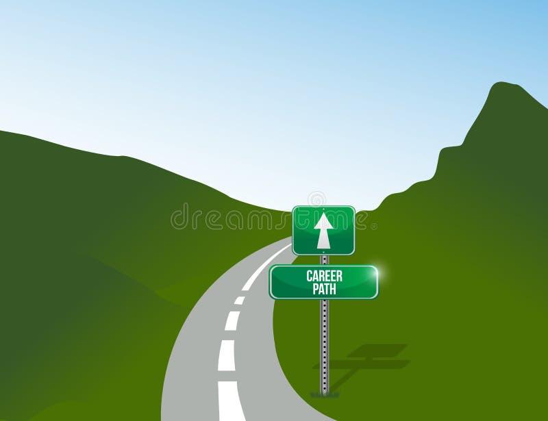 Ilustração da paisagem da carreira profissional ilustração do vetor