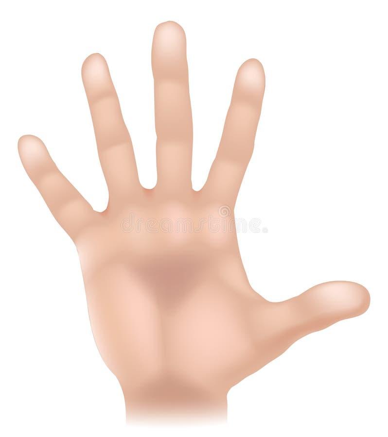 Ilustração da parte do corpo da mão ilustração do vetor