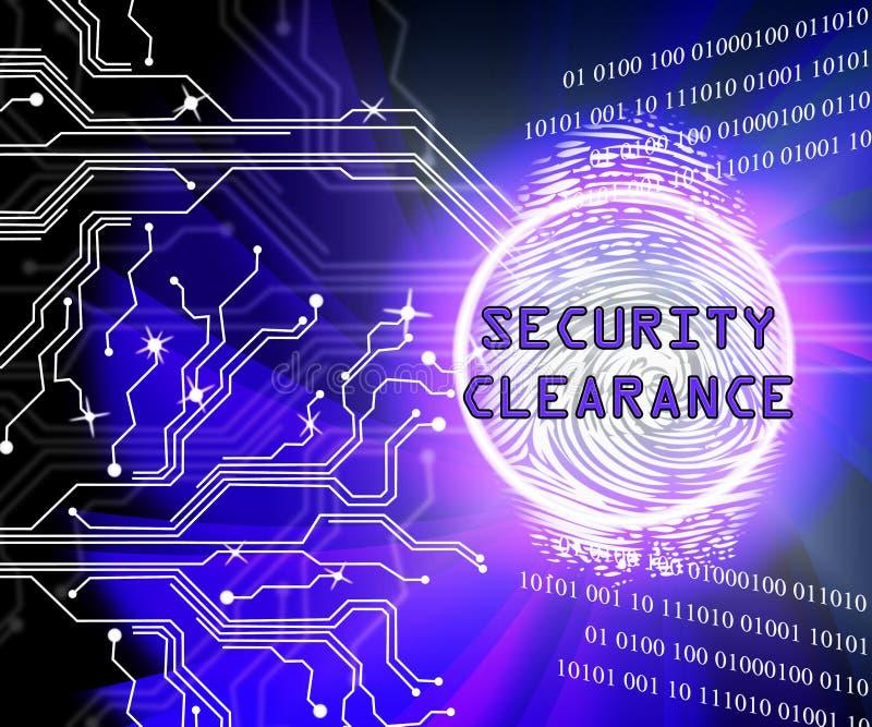 Ilustração da passagem da segurança de Cybersecurity do afastamento de segurança 2d ilustração royalty free