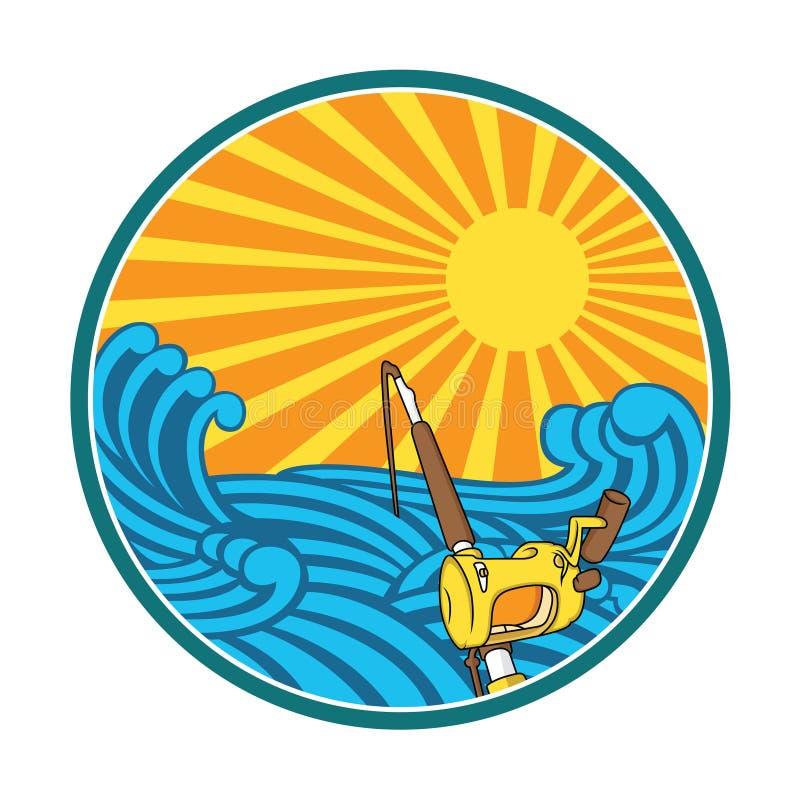 Ilustração da pesca com estilo retro ilustração stock