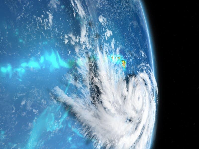 Ilustração da pista do furacão ilustração stock
