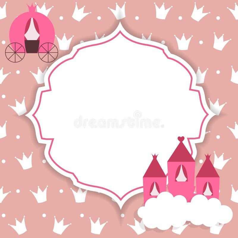 Ilustração da princesa Abstract Background Vetora ilustração do vetor