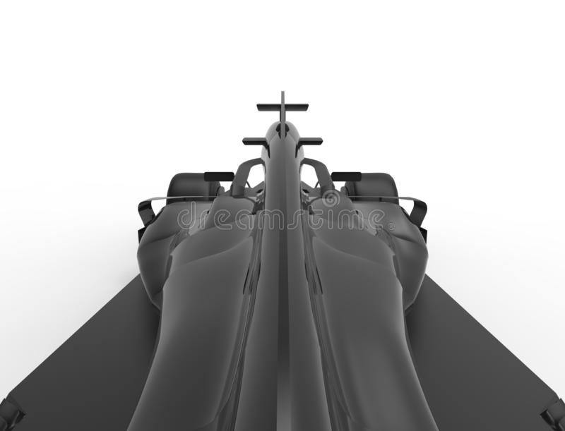 ilustração da rendição 3D de um tudo carro desportivo preto da raça da fórmula ilustração royalty free