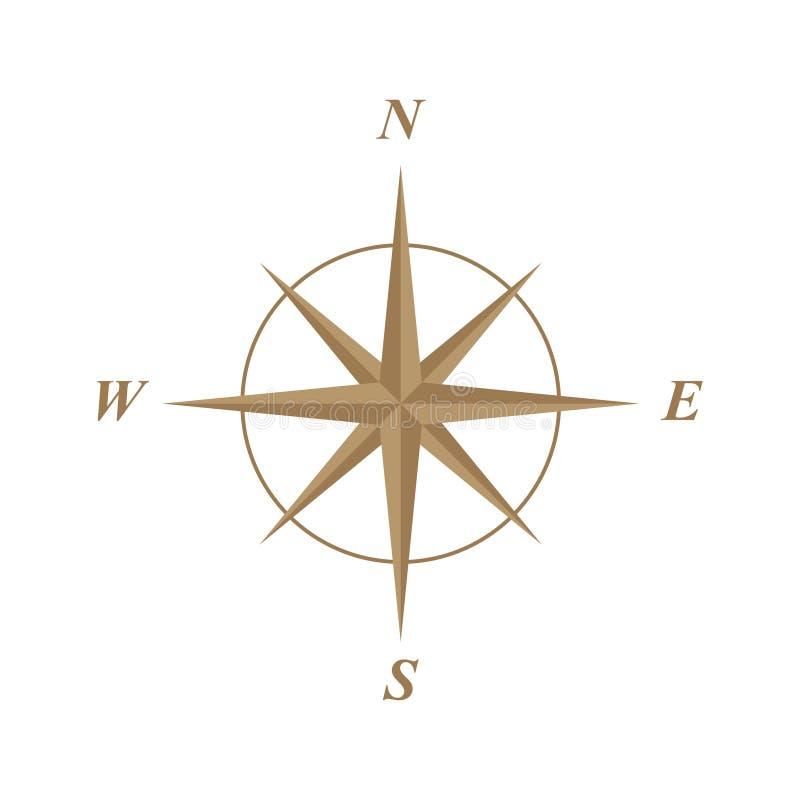 Ilustração da rosa de compasso ilustração stock