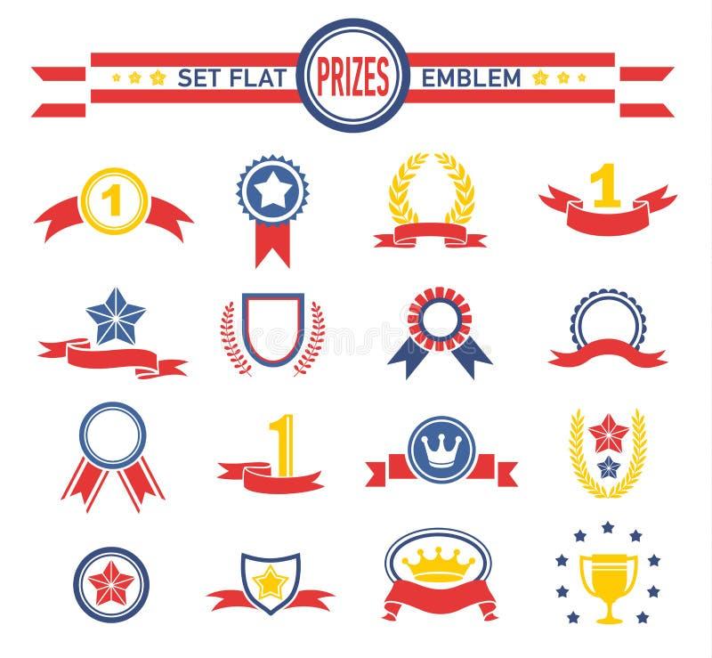Ilustração da série das fitas e das bandeiras do vintage de ilustração stock