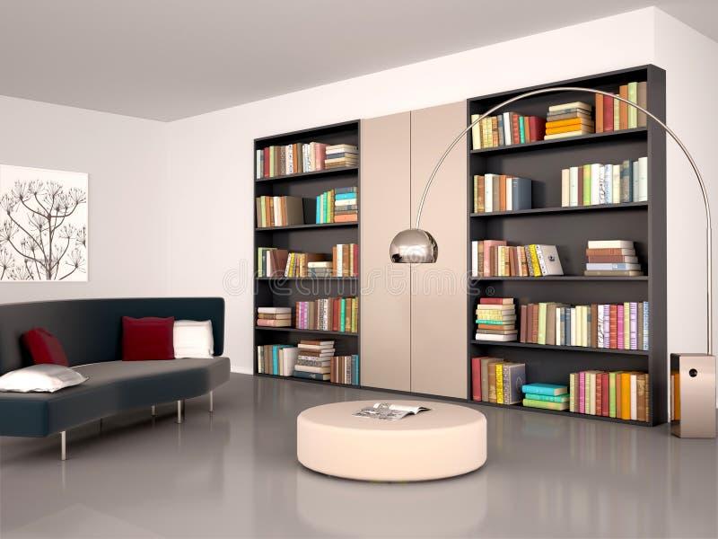 Ilustração da sala de leitura moderna ilustração royalty free