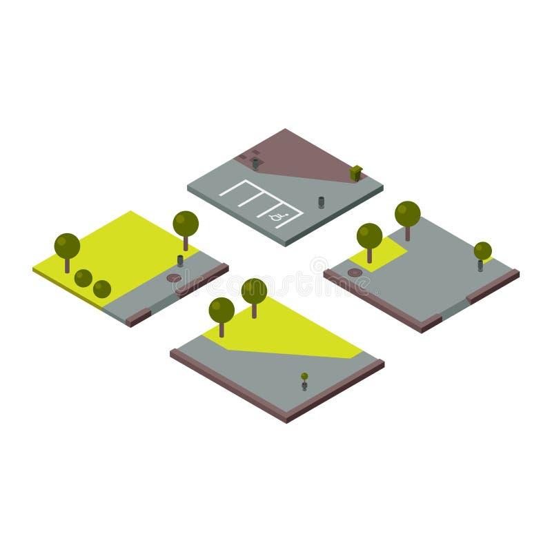 Ilustração da seção isométrica da terra ilustração royalty free