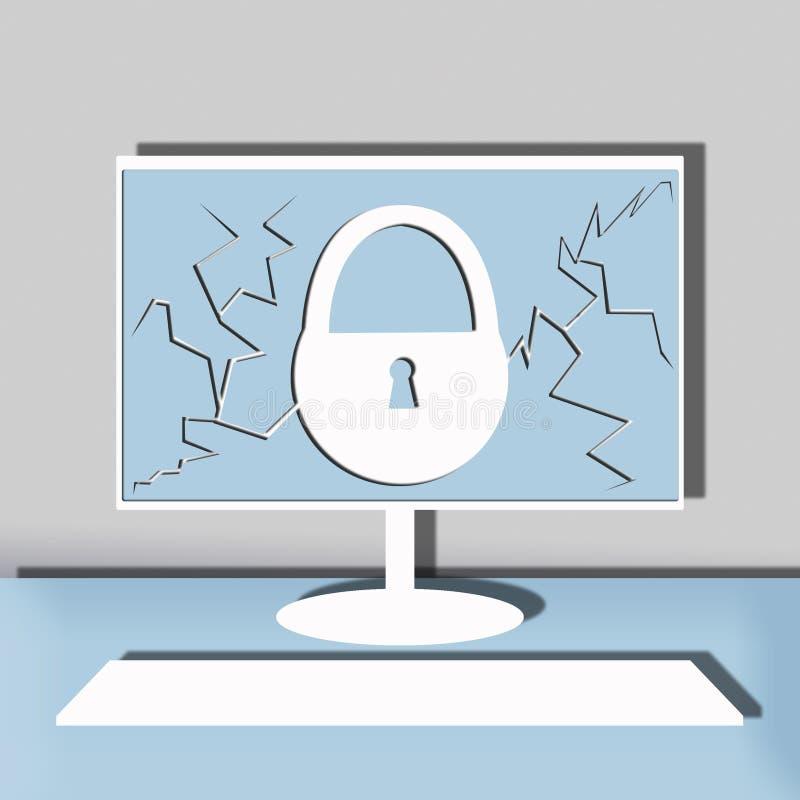 Ilustração da segurança informática fotos de stock royalty free