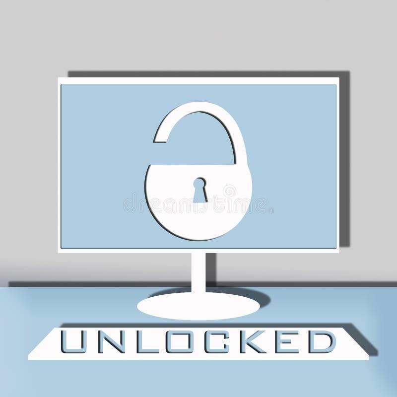 Ilustração da segurança informática fotografia de stock