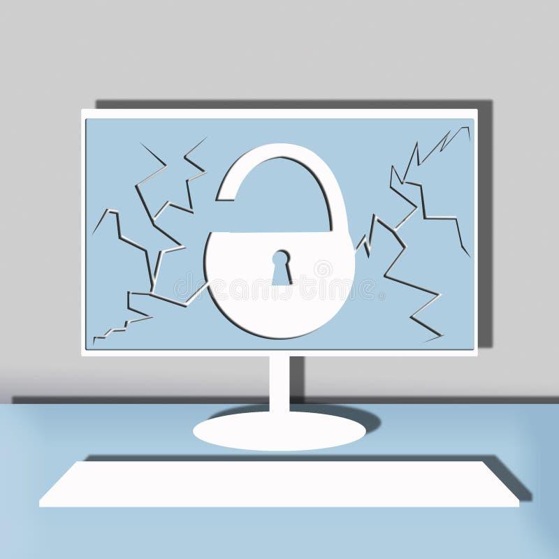 Ilustração da segurança informática imagens de stock