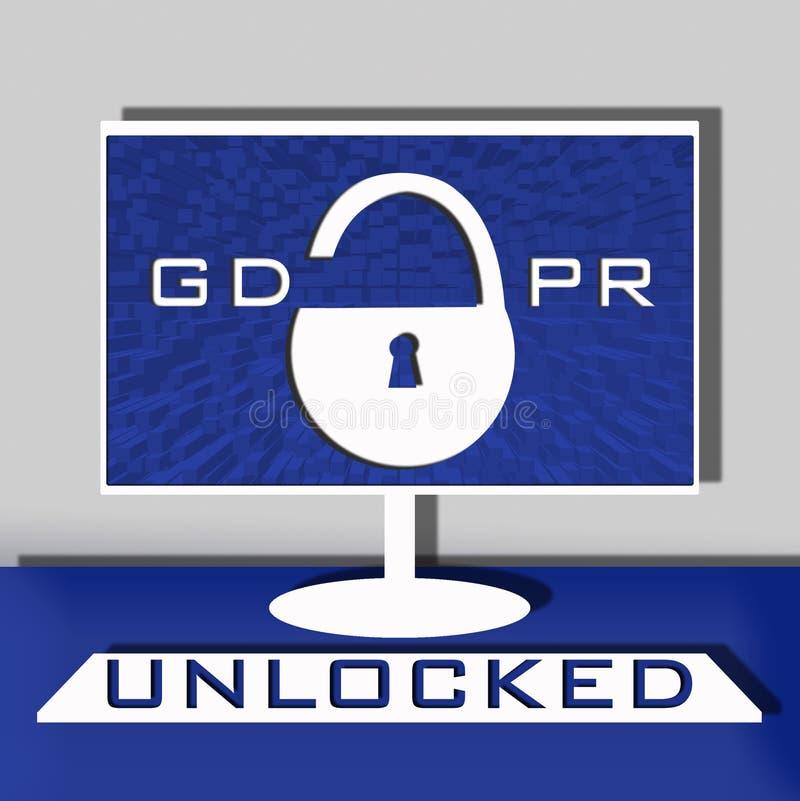 Ilustração da segurança informática fotografia de stock royalty free