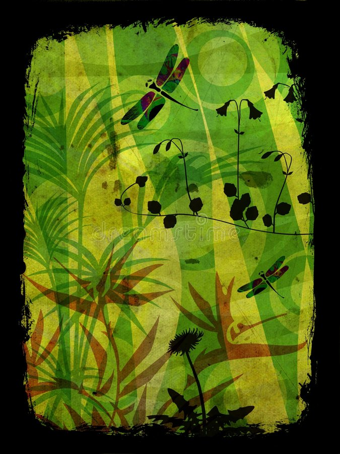 Ilustração da selva ilustração stock