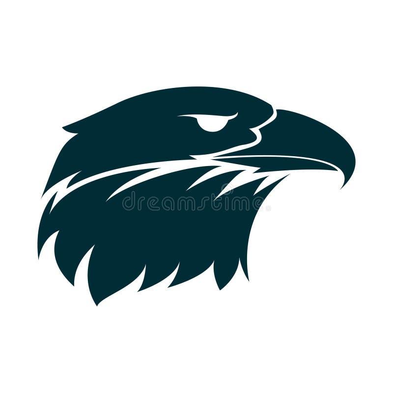 Ilustração da silhueta da cabeça de Eagle Projeto do logotipo da cabe?a de Eagle Projeto minimalista do ícone de Eagle ilustração royalty free