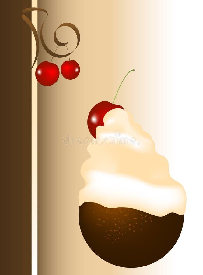 Ilustração da sobremesa ilustração stock