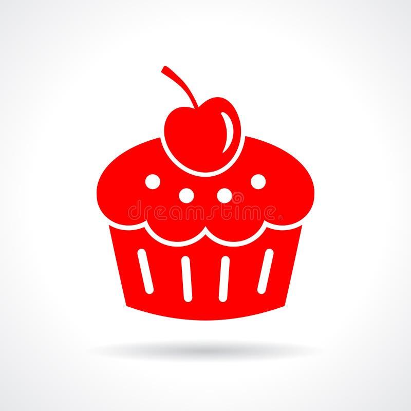 Ilustração da sobremesa do bolo ilustração do vetor