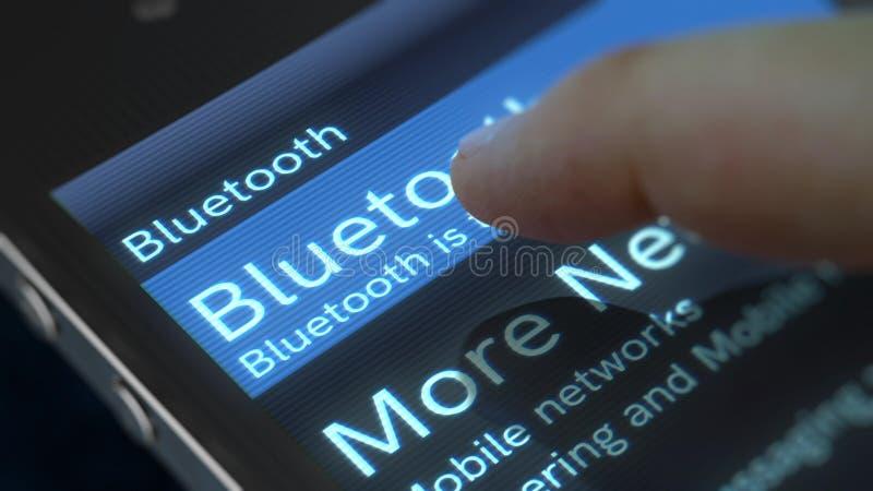 Ilustração da tela de Bluetooth do telefone celular ilustração stock