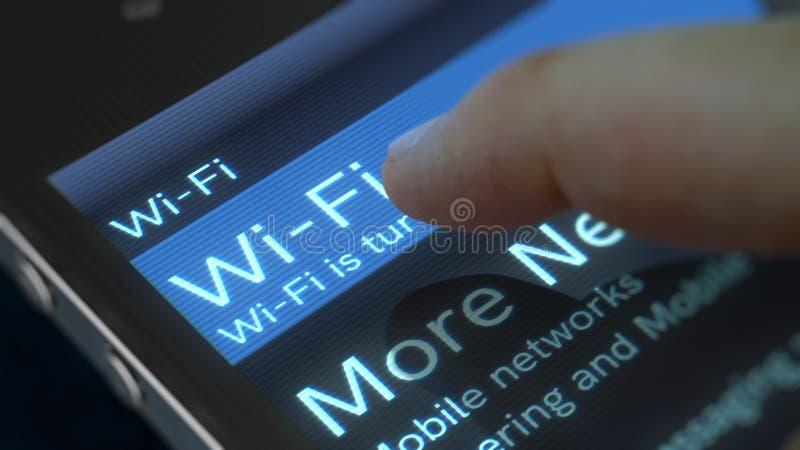 Ilustração da tela de Wi-Fi do telefone celular ilustração royalty free
