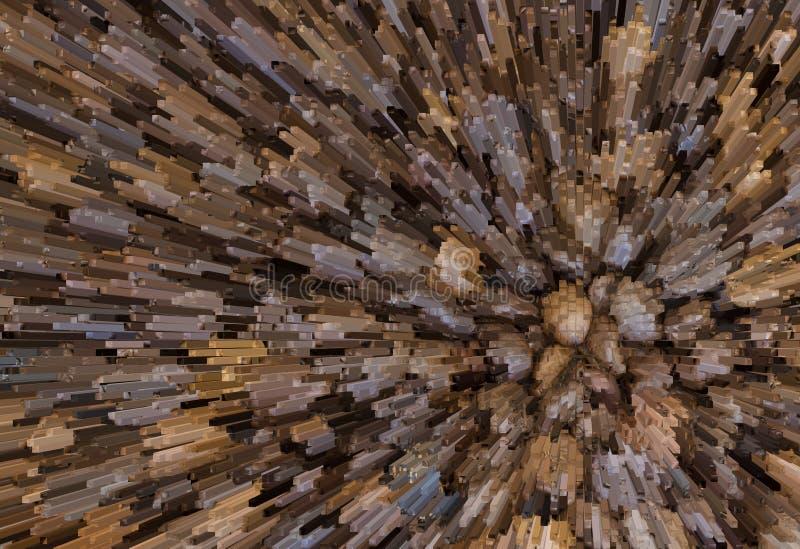 Ilustração da textura abstrata vibrante com quadrados Modele o projeto para a bandeira, cartaz, flayer, foto de stock