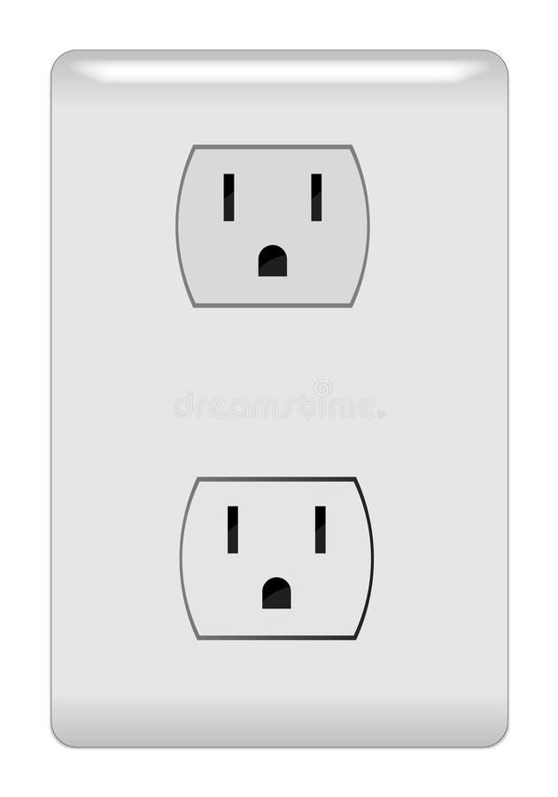 Ilustração da tomada elétrica ilustração royalty free