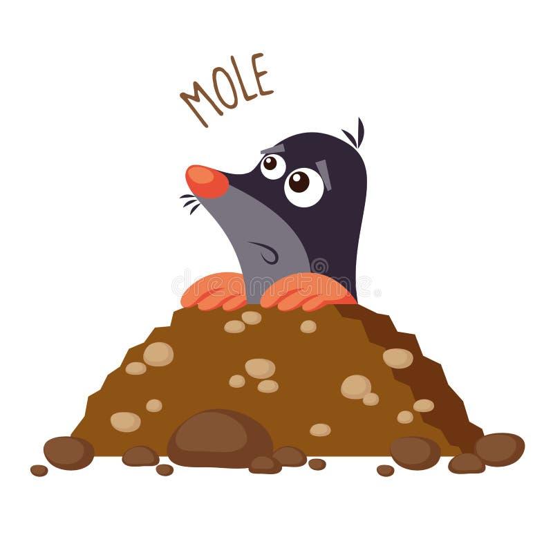 Ilustração da toupeira