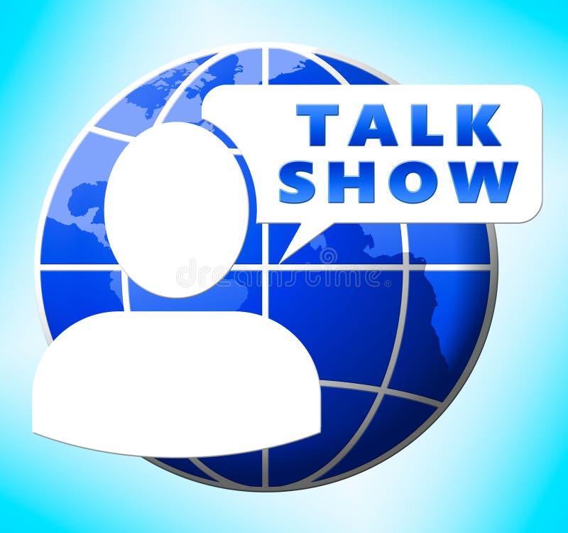 Ilustração da transmissão 3d da exibição do ícone do talk show ilustração do vetor