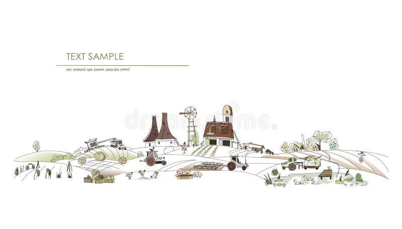 Ilustração da vida da exploração agrícola ilustração stock