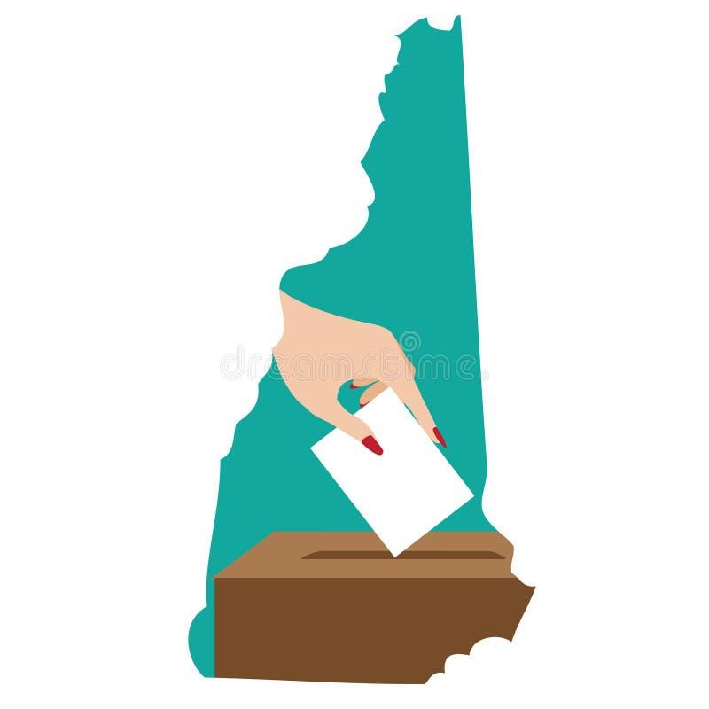 Ilustração da votação no hamsphire novo, o estado do granito ilustração royalty free